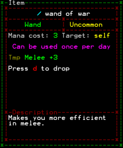 The new mechanics of a wand of war.